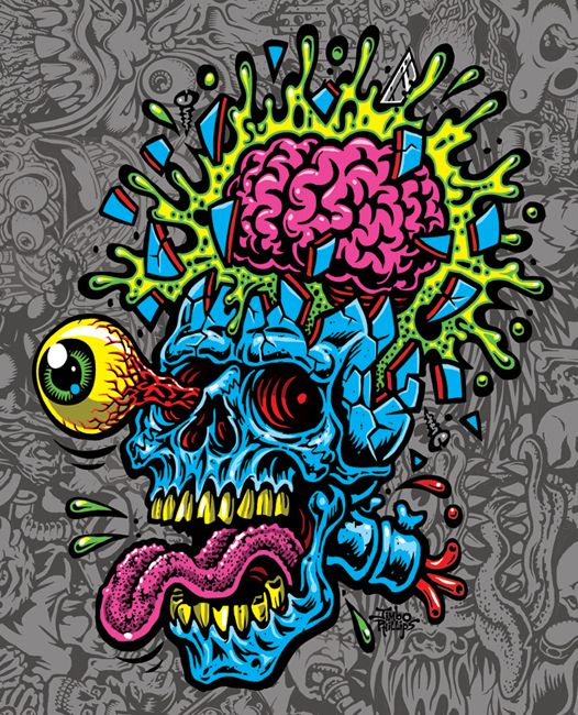 Skullblast By Jimbo Phillips In 2019 Skate Art