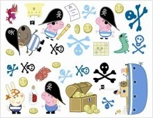 Or another alternative George as Pirate to combine a Peppa & Pirate party theme & then your ideas could be endless with Pirate things ;) Peppa Pig - George Stikarounds | eBay