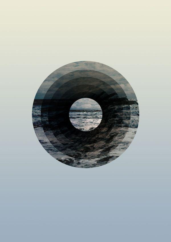 Astral Sea by Sarita Walsh, #graphic #design #circle #mer | Label Media