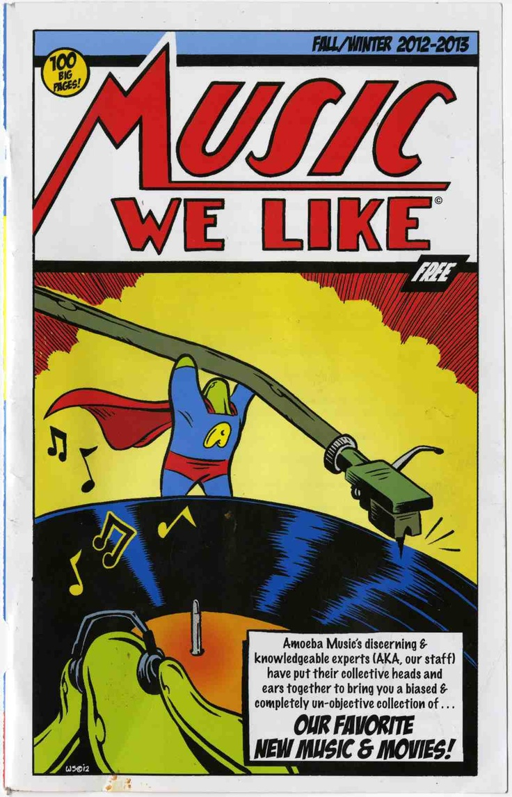 Orange pop records s profile hear the world s sounds - Amoeba Records Advertising Parodying The First Superman Comic