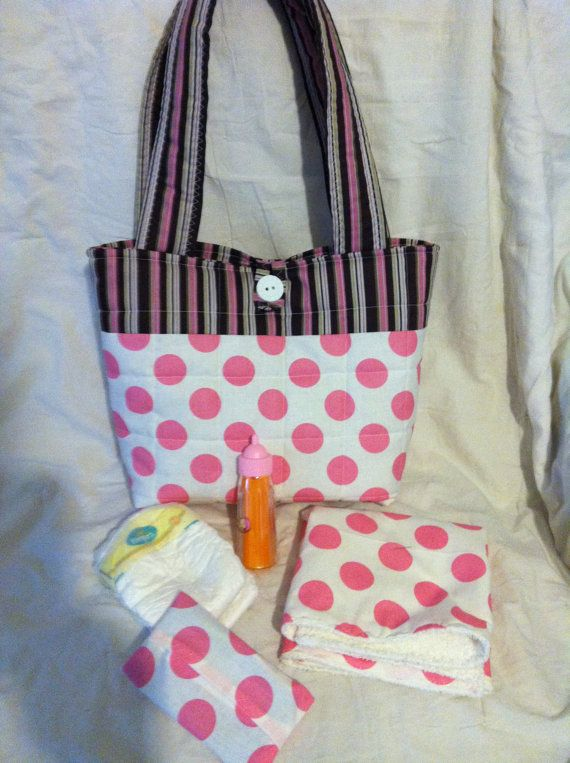 Quilted Baby Doll Diaper Bag By Needies On Etsy 29 95