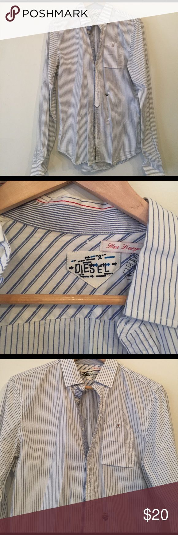 Casual diesel shirt Men's large. Been in bf's closet never worn. Shirts Casual Button Down Shirts