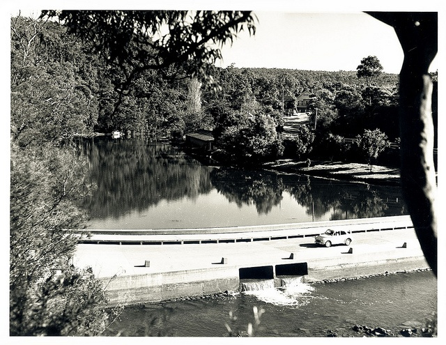 View of Causeway and boatshed at Audley, Royal National Park (NSW)  Dated: year only 01/01/1955