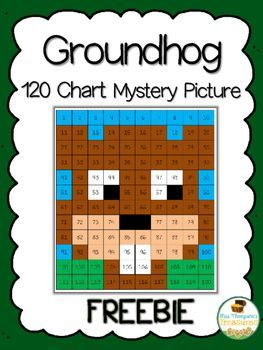 "Groundhog Day Freebie  Hey friends! I want to share with you my newest mystery picture perfect for Groundhog Day! This cute little guy is created when students use the key to color in numbers on a 120 chart. It's a great activity to start a discussion about groundhogs and what the day is about. You can also pair it with a writing activity such as ""Do you think the groundhog will see his shadow today?"" Or ""Would you rather have an early spring or six more weeks of winter?"""