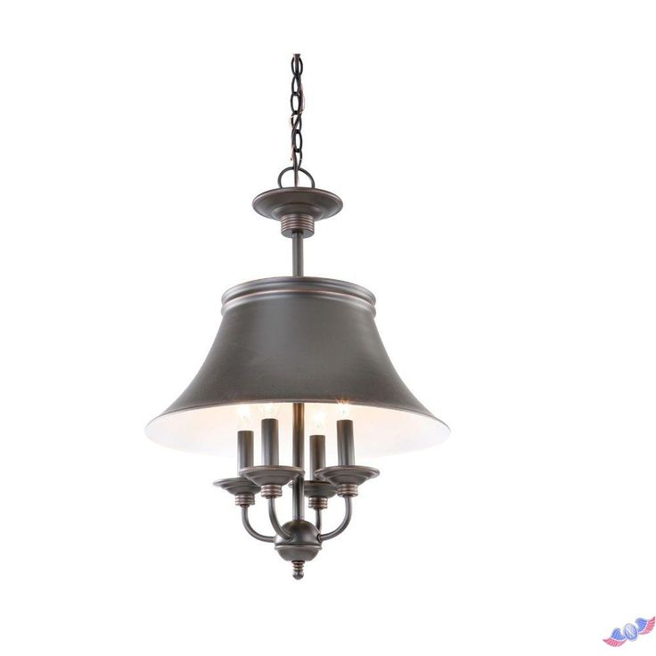 hampton bay charleston collection 4light oil rubbed bronze pendant