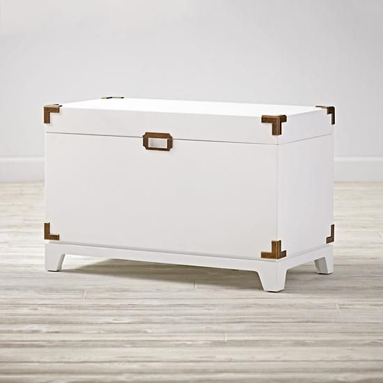 Campaign Toy Box (White) | The Land of Nod