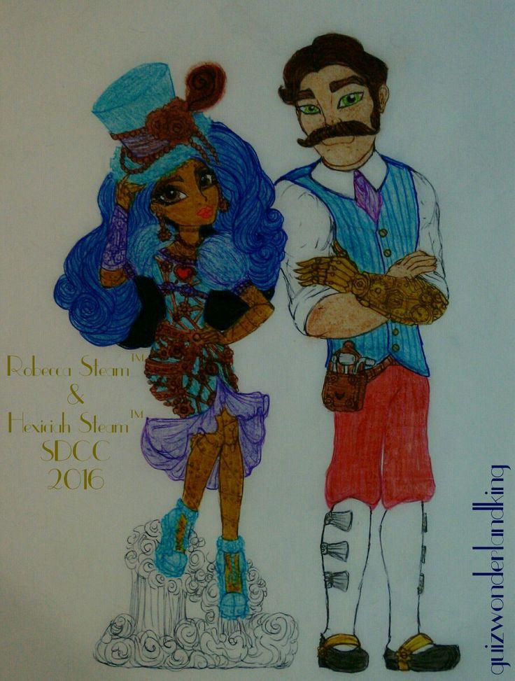 📚 Monster High®SDCC (San Diego Comic Con) 🔆 🛠 Steampunk 2Pack 🕰 Robecca Steam™ & Hexiciah Steam™ (The Steam Family) 🖋 #MonsterHigh #MH #SDCC #SanDiegoComicCon #2Pack #Steampunk2Pack #Steampunk #TheSteamFamily #RobeccaSteam #HexiciahSteam #Robots #MadCientist #Robôs #CientistaMaluco #Doll #ExclusivesDolls #HowDoYouBoo #Mattel #Fanart #Debujo #Drawn #Drawings #Desenho #Illustration #Ilustração #Art #Arte #Dolls #Bonecas #guizwonderlandking