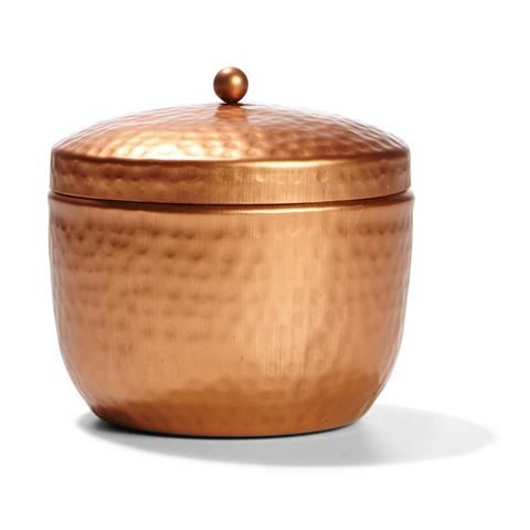 Hammered Copper Pot with Scented Candle - Fig & Papaya | Kmart
