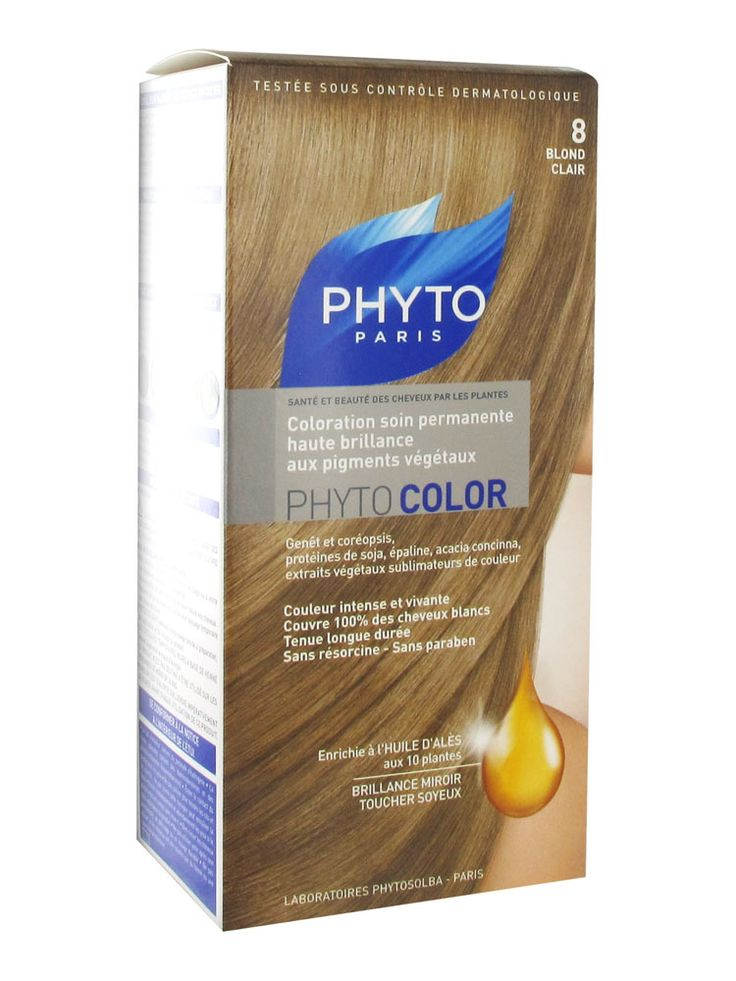 Phyto Color Permanent Color-Treatment Ultra Shine with Botanical Pigments-№8-Fair Blond.€8.25