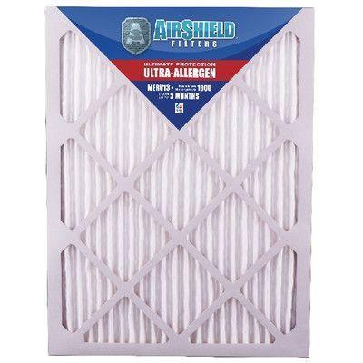 "AirShield MERV 13 Ultra-Allergen Air Filter Size: 20"" H x 12"" W x 1"" D"