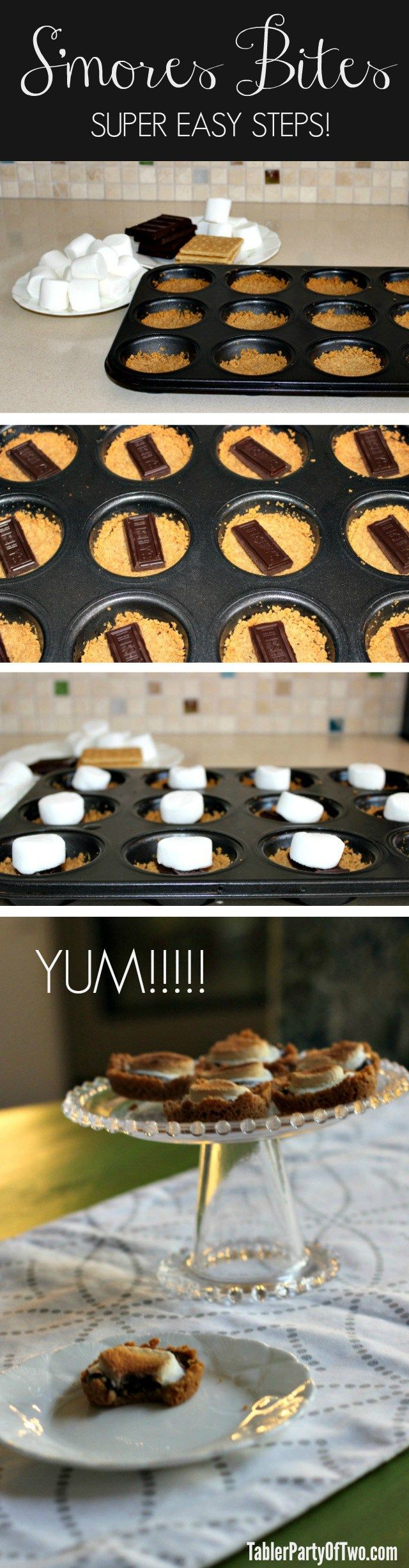 Whoa! These S'mores Bites are AMAZING! And it's a super easy dessert to prepare. Check out all the steps here! You won't be disappointed. :) TablerPartyofTwo.com