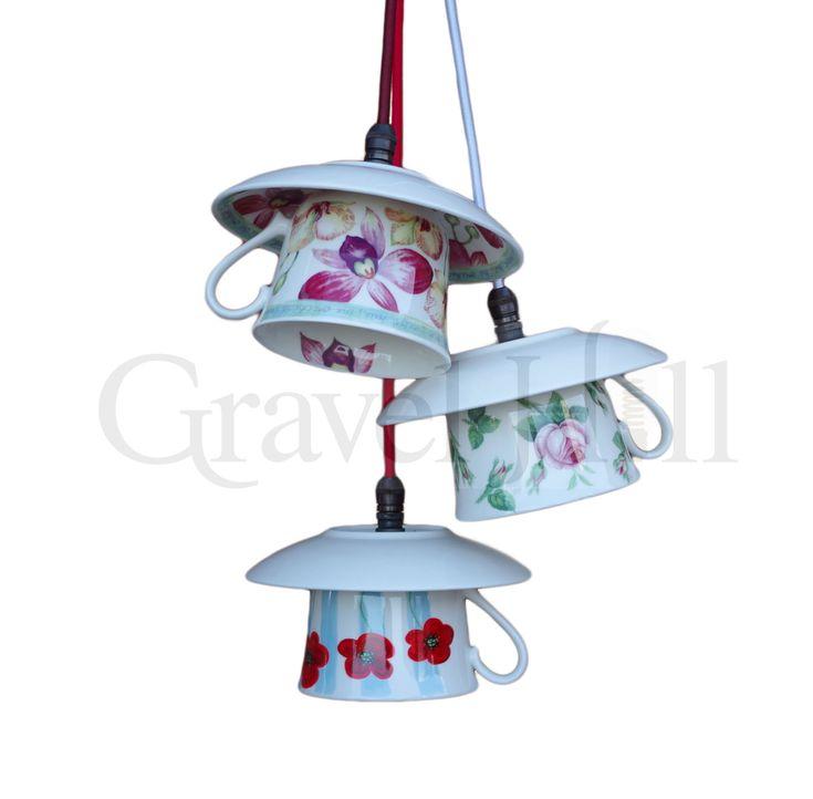 Up-cycled Bone China Teacup Pendants