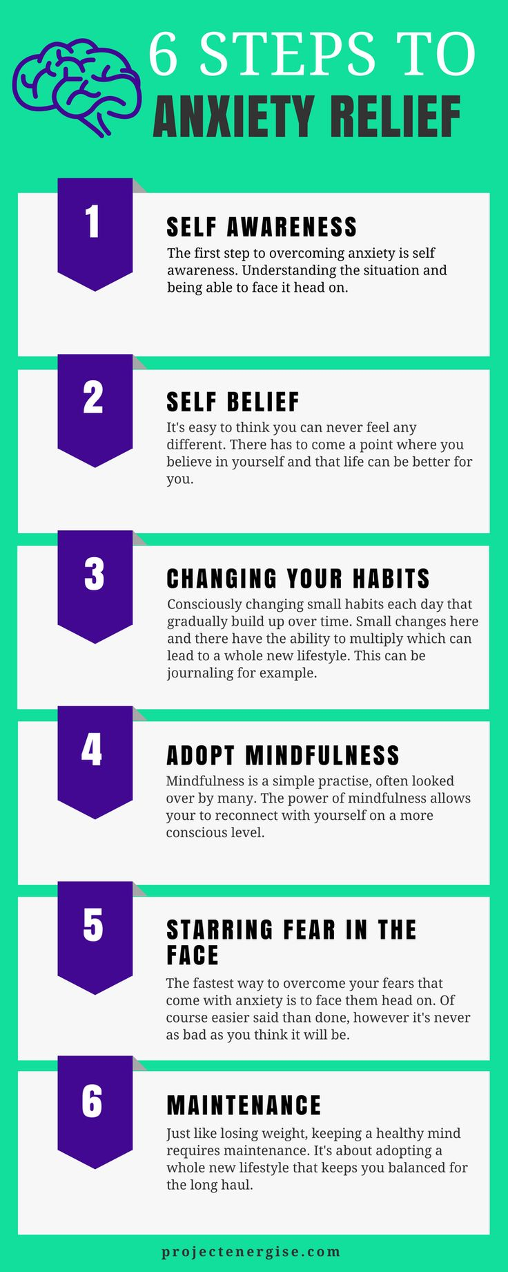 The six steps to anxiety relief - the short version!