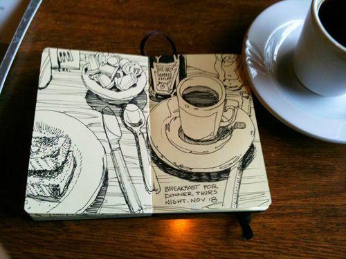 Graham Smith-Restaurant sketchbook  Lots of good Art Journal drawings on his website.