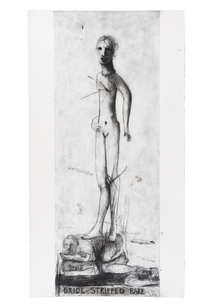 Bride Stripped Bare State 1, Etching