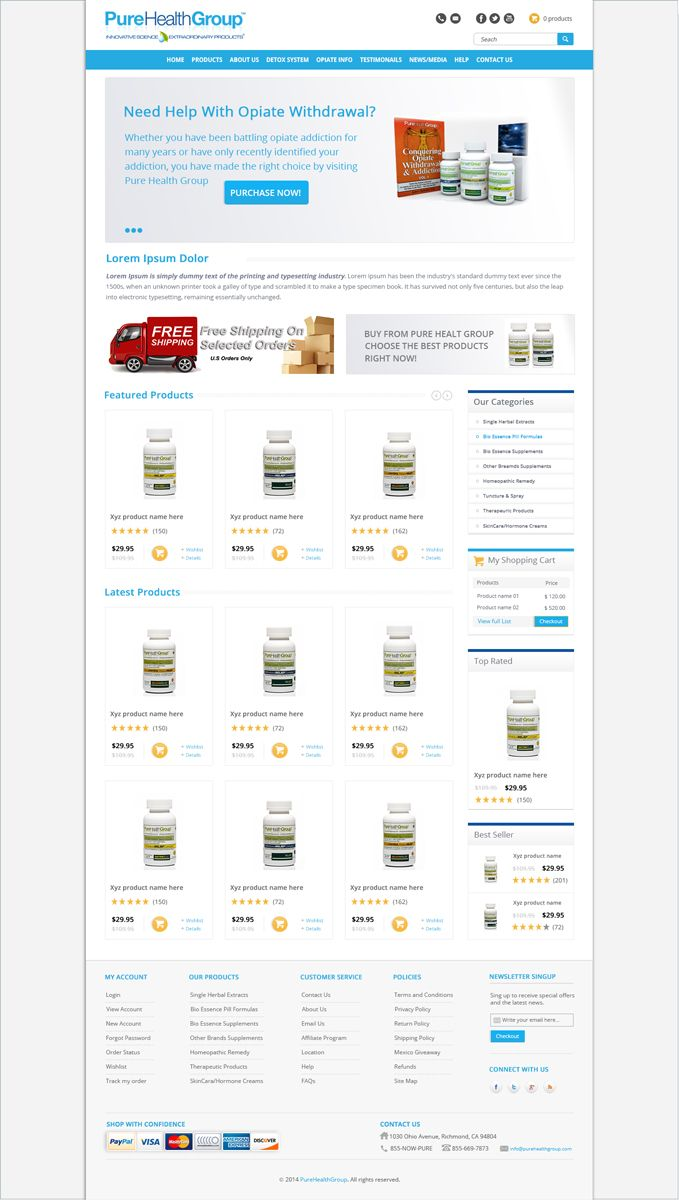 e-Commerce HomePage Design