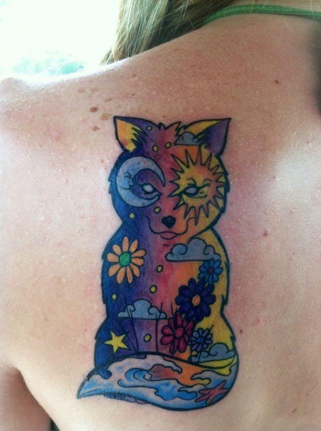 Hippie Tattoos | Hippie tattoo/fox tattoo