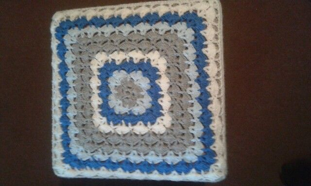 Top view of my crochet design for foot chair cover