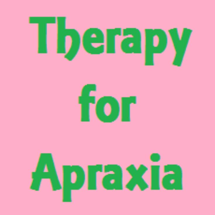 speech therapy for childhood apraxia of speech
