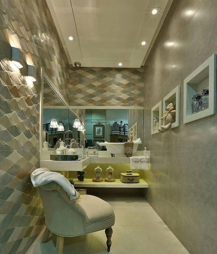 1000+ ideas about Revestimento Para Banheiro on Pinterest  Tiling, Toilets a -> Banheiros Decorados Ceramica Portinari
