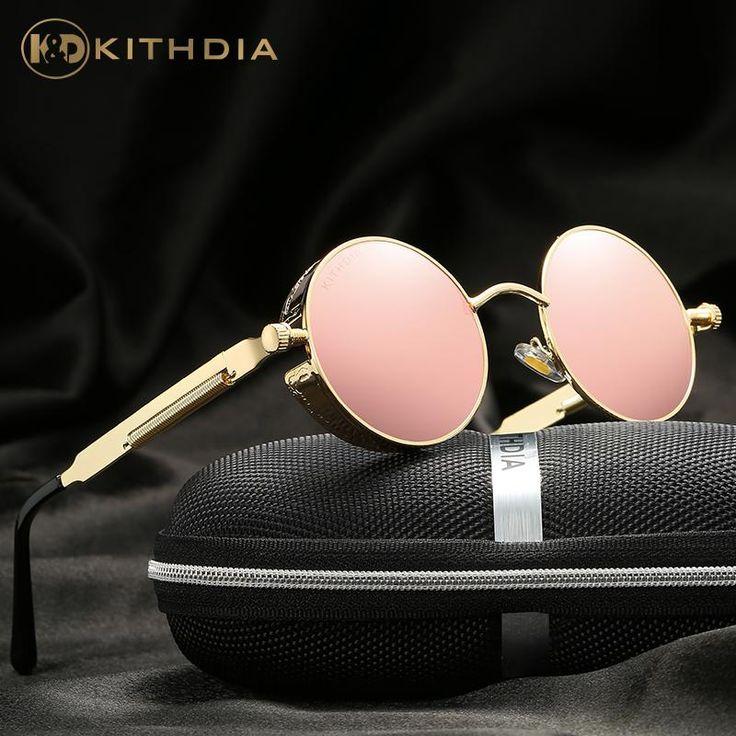 63f523f7d70 KITHDIA Women Polarized Sunglasses Round Women Brand Designer UV400  Protection Sun glasses Retro Drive Fashion Shades