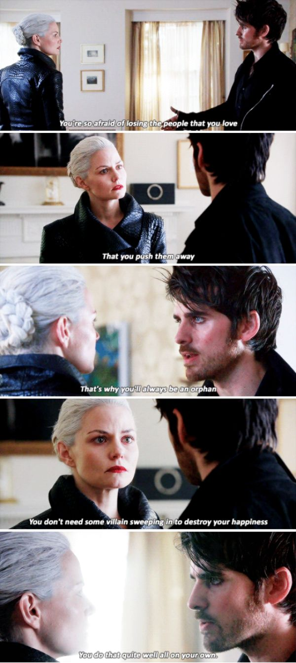 """""""That's why you'll always be an orphan"""" - Dark Hook (and also, mean) and Dark Swan #OnceUponATime"""