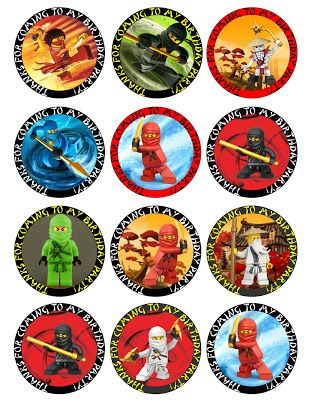 Ninjago Free Printable Toppers, Labels, Images and Invitations.