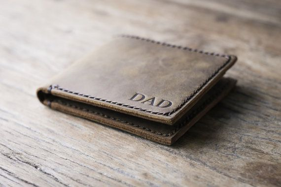 Mens Leather Wallet with Coin Pocket  All Currency Friendly