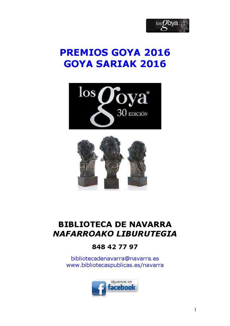 En este folleto encontrarás todas las películas que han sido galardonadas con algún Premio Goya a lo largo de la historia y que están disponibles en la Biblioteca de Navarra.