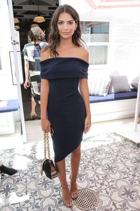 Still going strong for 2017 - bare your shoulders with a Bardot style top or dress like this one worn by the beautiful Emily Ratajkowski #coldshoulder...x