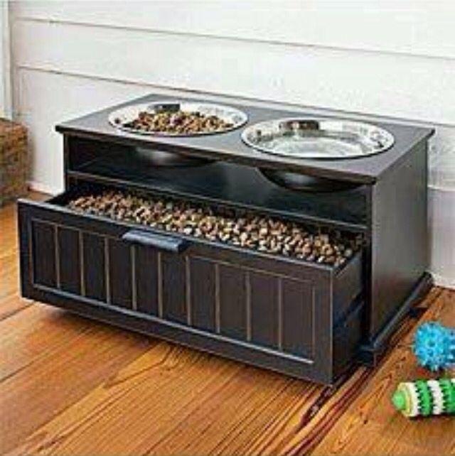 bol d 39 eau de nourriture rangement pour chien chat acheter pinterest acier. Black Bedroom Furniture Sets. Home Design Ideas