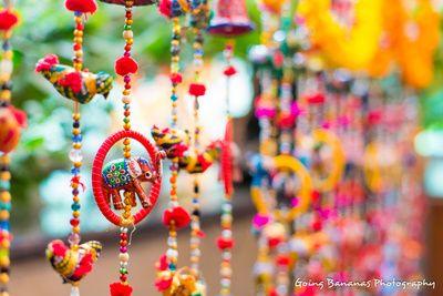 mehendi decor , rajasthani mehendi theme , bangles strings , elephant pupper…