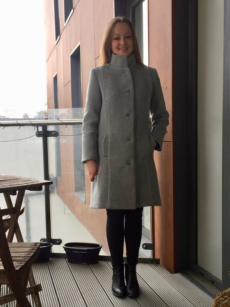 Diary of a Chain Stitcher: Butterick B6385 Coat in Grey Burberry Coating -good tips and a pattern with good instructions