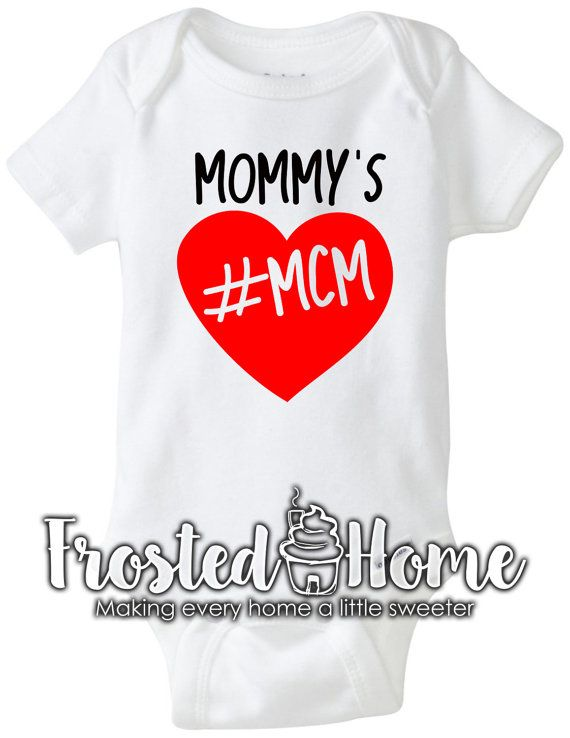 Mommy's MCM MCM shirt Mommy's Boy Mommy's Man Crush by FrostedHome