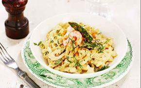 Krämig currypasta med räkor