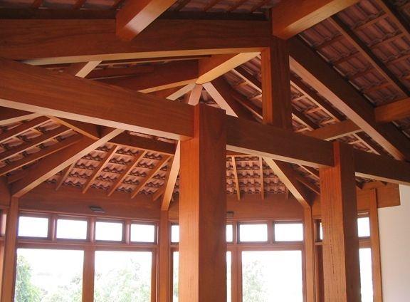 madeira do telhado