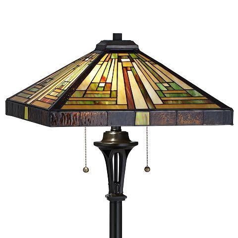 Quoizel Shiloh Tiffany Art Glass Floor Lamp - #5D467 | Lamps Plus