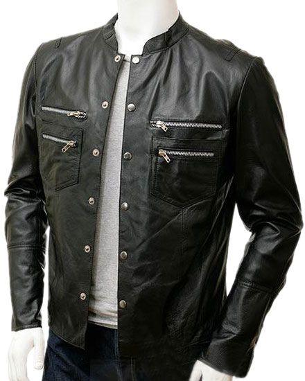 Stylishly detailed mens leather shirts