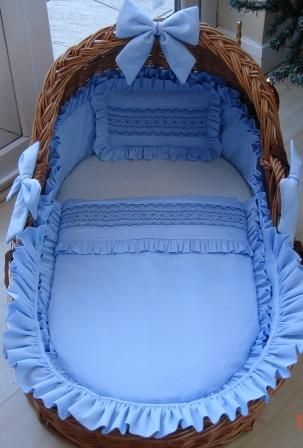 Smocked layette in a basket!!!!! Future grand babies......