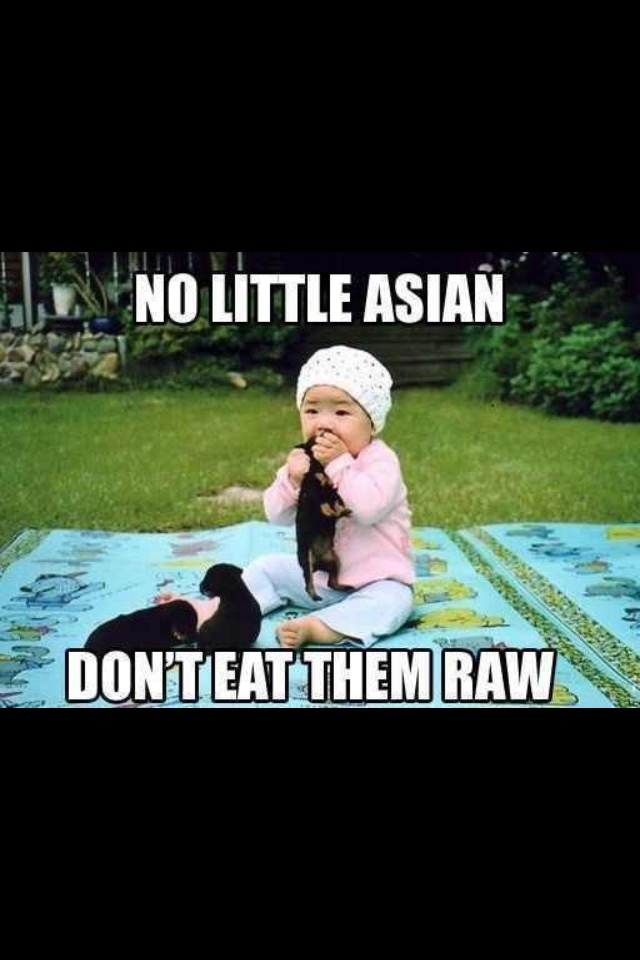Cute little Asian baby eating a puppy raw. | Funnies ...