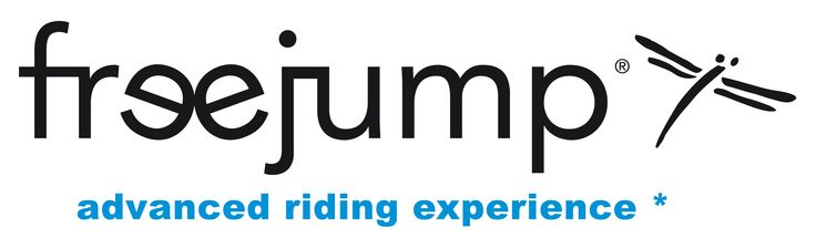 The Freejump Logo for Light Backgrounds - Freejump is sold at www.justriding.com