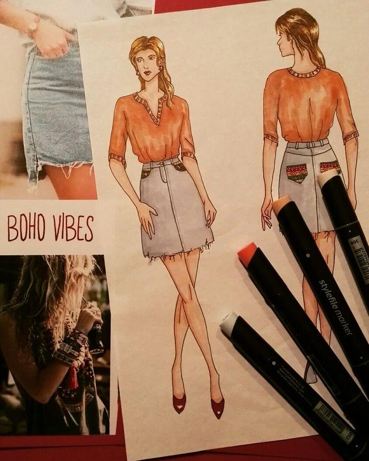 Fashion Illustration boho vibes