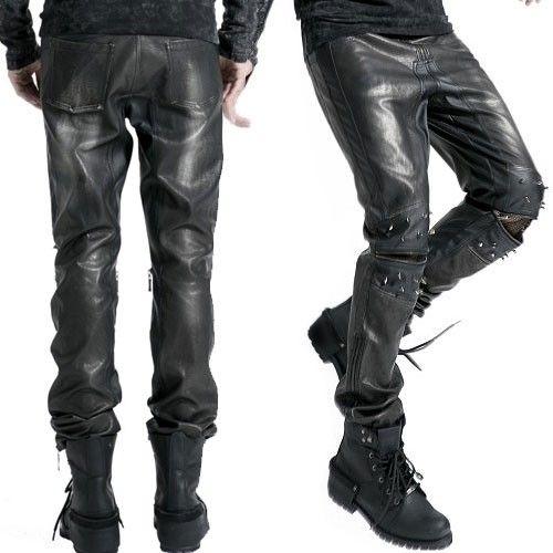 Pantalons homme en faux cuir