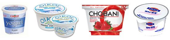 Greek Yogurt Nutritional Breakdown; side-by-side comparison.  Wow! Some of these have TONS of sugar!
