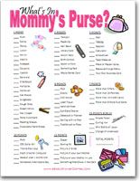 "Printable ""What's In Your Purse"" Game - Baby Shower Games"