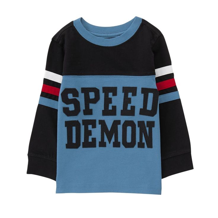 Toddler Boy Stormy Blue Speed Demon Tee by Gymboree