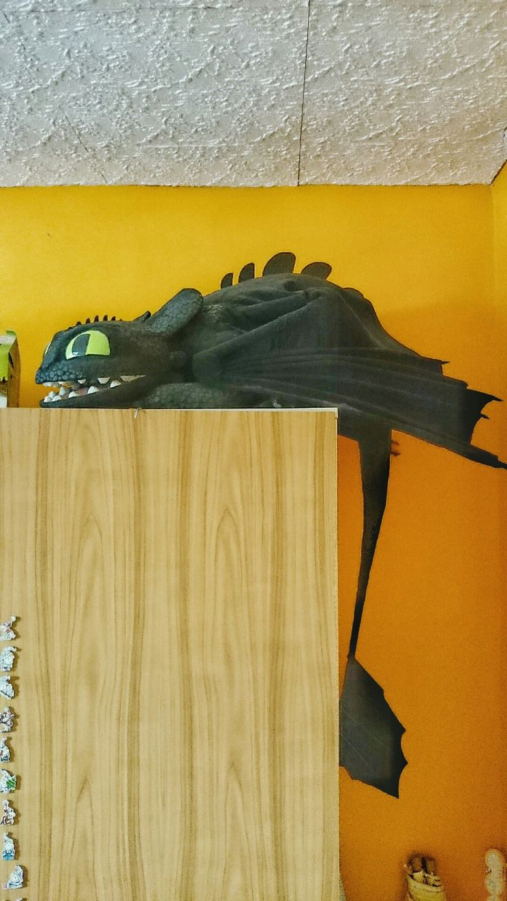 Paper mache dragon toothless sculpture diy