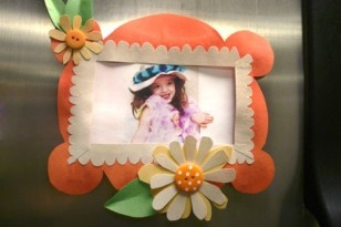 Adorable magnetic picture frame