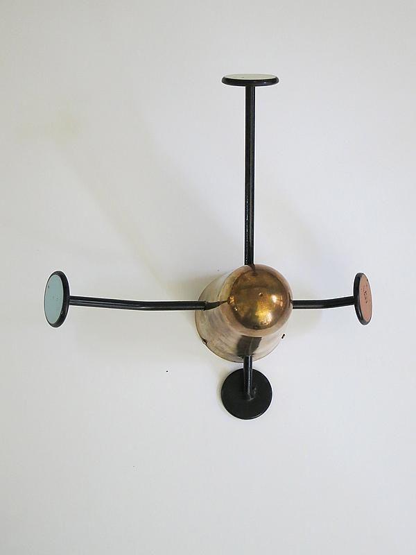 mathieu matgot brass u0026 painted metal coat rack 1950s