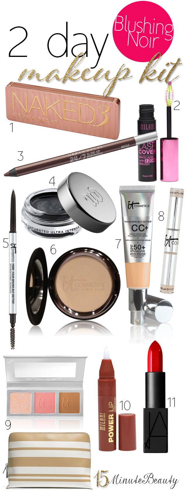 Makeup Must Haves For Beginners: 17 Best Ideas About Travel Makeup Bags On Pinterest